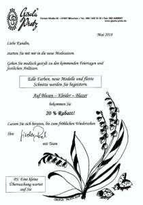 Einladung Sommermode Damenmoden Pretz mit Rabatt-Aktion